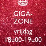 Giga-Zone VRIJDAG - 11/01 t.e.m. 21/06/2019 - 18u00-19u00 (€6,00/les)