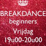 Breakdance beginners VRIJDAG - 11/01 t.e.m. 21/06/2019 (€6,00/les)
