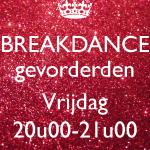 Breakdance gevorderden VRIJDAG - 08/01 t.e.m. 18/06/2019 (€6,00/les)