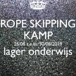 Rope skipping kamp 26/08 t.e.m. 30/08/'19 (VOLLEDIGE DAG)