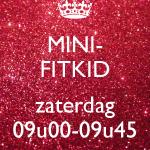 Mini-Fitkid ZATERDAG 12/01 t.e.m. 22/06/2019 - 09u00-09u45 (€6,00/les)