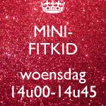 Mini-Fitkid WOENSDAG 09/01 t.e.m. 19/06/2019 - 14u00-14u45 (€6,00/les)